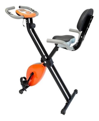 Bicicleta Ergométrica Dobrável Wct Fitness 55555102 Vertical Preta E Amarela
