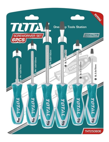 Juego De Destornilladores 6pzas Total Tools Tht250606