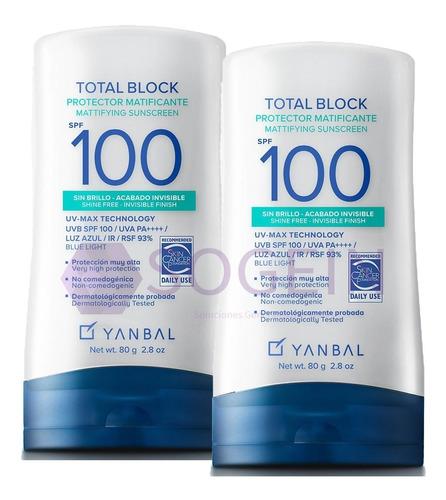 2 Bloqueadores Total Block Matt Spf 100 - mL a $230