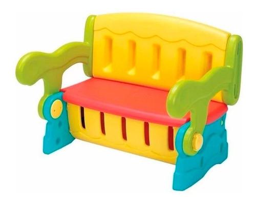 Mesa Escolar Infantil Porta Brinquedo Kit 3 Em 1 Colorida
