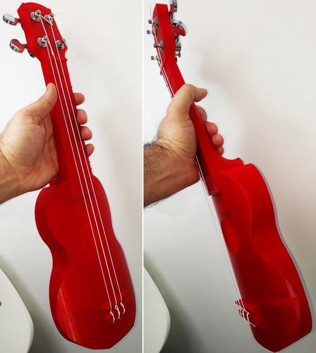 Peça Ukulele (instrumento Musical Impresso Na Impressora 3d)