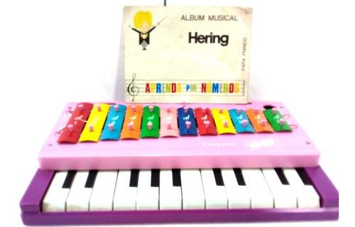 Piano Hering  Xilopiano  Xp-12 C/partitura Funciona Frete 30
