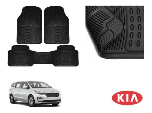 Kit Tapetes 3 Filas Kia Sedona 2019 Rubber Black Original