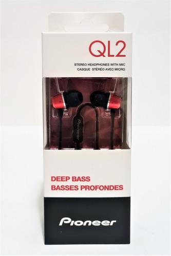 Tk0i Fone De Ouvido Pioneer Preto Vermelho Com Microfone Ql2