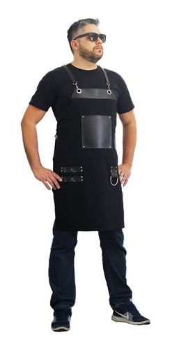 Avental Barbeiro Churrasqueiro Cozinha Kit 3 Uni 12s Juros