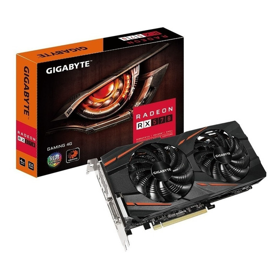 Placa de video AMD Gigabyte Radeon RX 500 Series RX 570 GV-RX570GAMING-8GD 8GB
