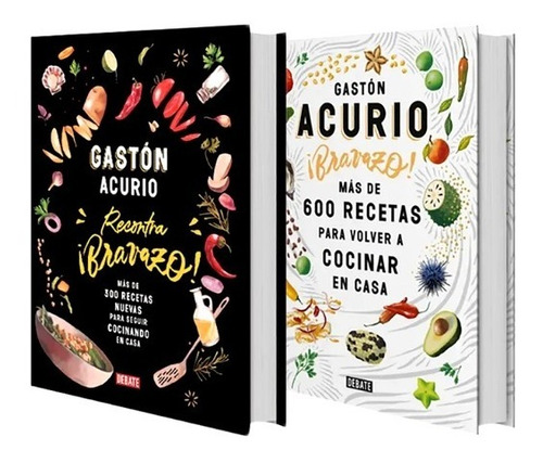 Gastón Acurio - Pack 2 Bravazo - Más De 900 Recetas De Casa