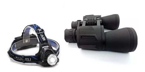 Combo Férias Acampamento Trilha Binóculo Lanterna D/cabeça