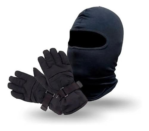 Kit Toca Ninja Balaclava luva Motoqueiro Impermeável P/ Frio