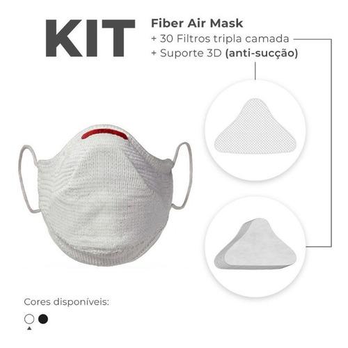 Máscara Fiber Knit Air + Filtro De Proteção + Suporte