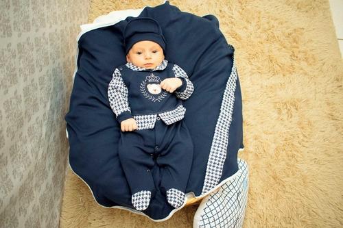 Saída  Maternidade Menino Felipe 4 Peças