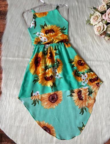 Vestido Infantil Sereia Mullet Mini Blogueira Meninas