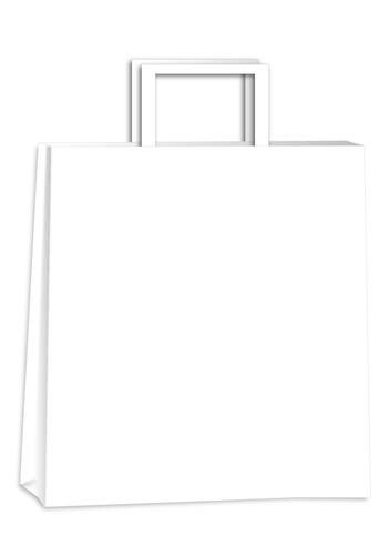 Bolsas De Papel Blancas 32x11x33 Pack X25 Unidades
