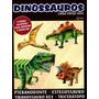 Livro Paper Toys Dinossauros 4 Feras Incríveis Para Montar