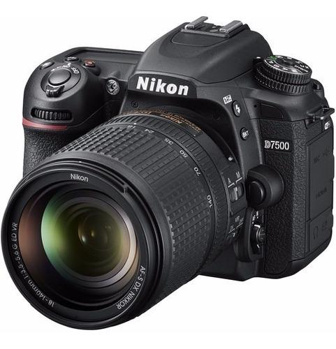 Nikon D7500 Lente 18 140mm F/3.5 5.6g Ed Vr Loja Platinum