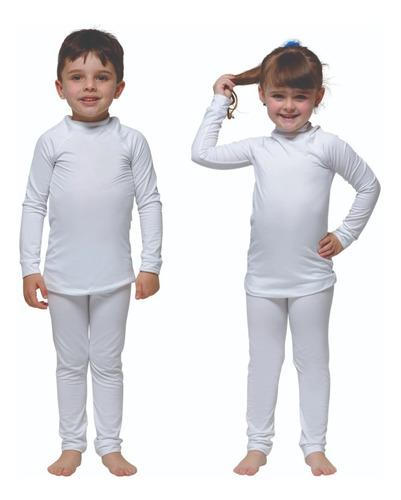 Conjunto Camisa Térmica + Calça Térmica Para Frio Infantil