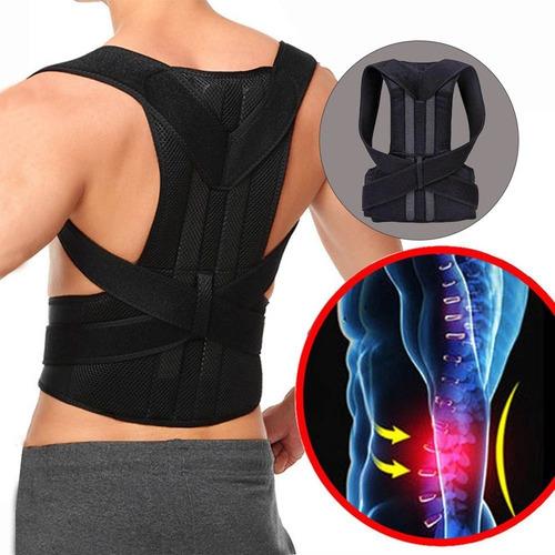 Colete Corretor Postural Coluna Lombar Forte Anatômico Ajustável Reforçado Acolchoado Corrige A Postura Sem Dor
