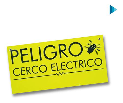 Cartel De Advertencia Cercas Eléctricas X 10 Unid.