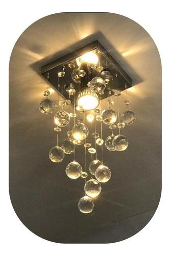 Lustre De Cristal Legitimo K9 Lampada Inclusa