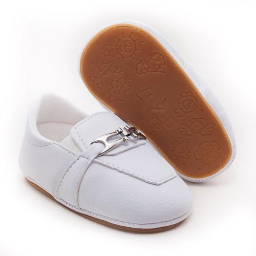 Mocassim Bebê Menino Social Preto Conforto Infantil Sapato