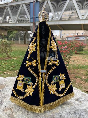 Nossa Senhora Aparecida Manto Luxo - 40cm Brinde Gratis