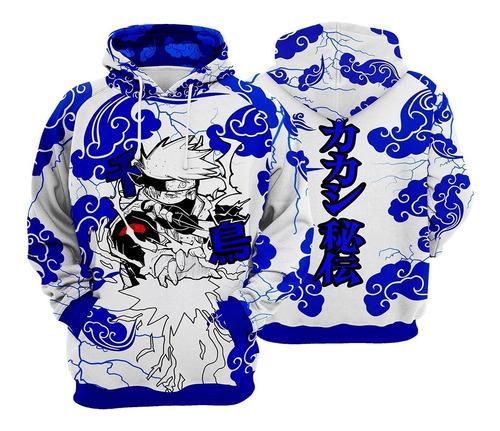 Blusa De Frio Agasalho Moletom Kakashi Naruto Aktsuki