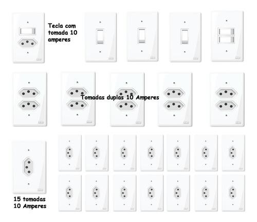 Tomadas E Interruptores (25 Pç) Kit Casa Completa
