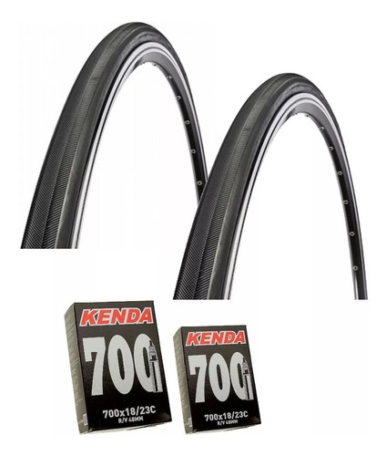 Par Pneu Speed Pirelli Corsa Pro 700x23 + Par Camara Kenda