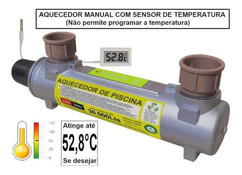 Aquecedor Trocador Piscina 30.000lts Turbohot Manual 220v
