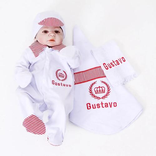Conjunto Saída Maternidade Menino Personalizada Príncipe