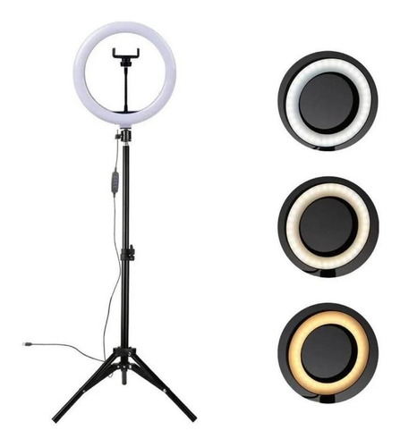 Ring Light Led Iluminador 26cm + Tripé Completo Oferta