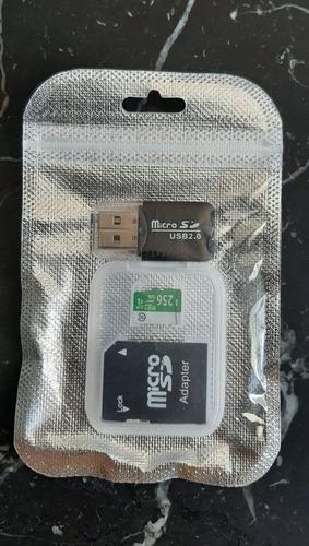 Cartão De Memória 256gb High-performance, Com Adaptadores