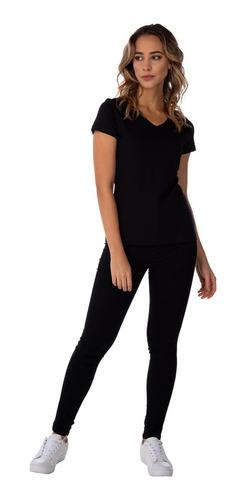 Camiseta Babylook 100% Algodão Gola V Basicamente By Malvee