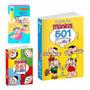 Kit 3 Livros Monica Aquabook 501 Desenhos 551 Atividades