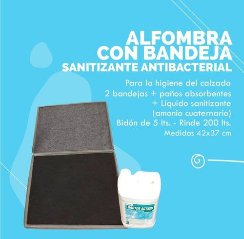 Kit Alfombra Sanitizante Para La Higiene Del Calzado