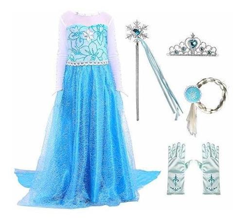 Disfraz De Anna De Elsa Princesa Fiesta De Nieve Reina De Ha