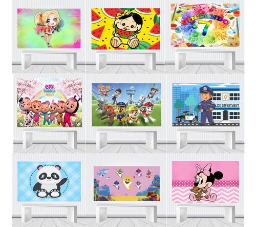 Painel Decorativo Infantil 1,00 X 0,65 Tema Festa 20f