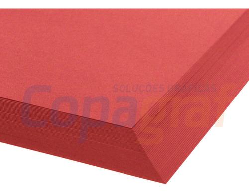 Papel Color Plus A4 240g 50 Folhas - Tóquio - Vermelho