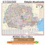 Mapa Estado Do Paraná Político Rodoviario 120x 90cm Enrolado