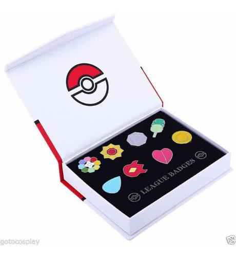 Medallas Liga Pokemon Kanto Pins Metalicos