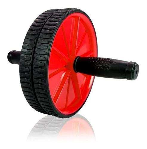 Roda Abdominal Ab C/ Tapete Wheel Exercício Abdominal Lombar