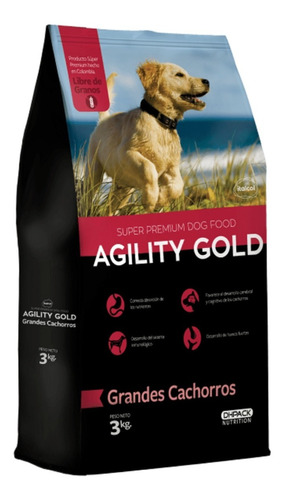 Agility Gold Grandes Cachorros 3 Kg - - kg a $16830