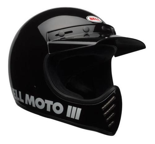 Capacete Bell Moto 3 Original Black Classic