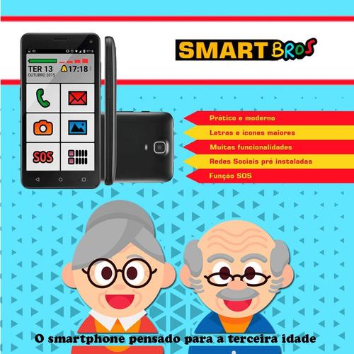 Celular Idoso Smartbros Dois Chip 32 Gb 5 Pol Envio Grátis