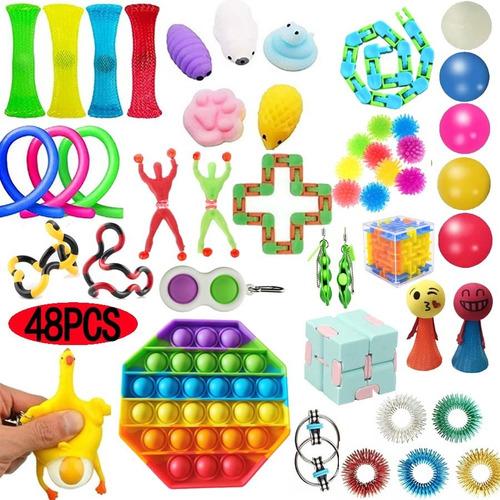 48 Peças Fidget Cube - Anti Stress Toy #pop Bubble Jug