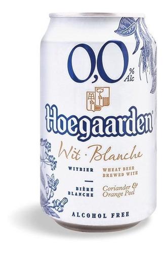 Cerveza 0.0% Hoegaarden 330ml - X2 Latas Sin Alcohol