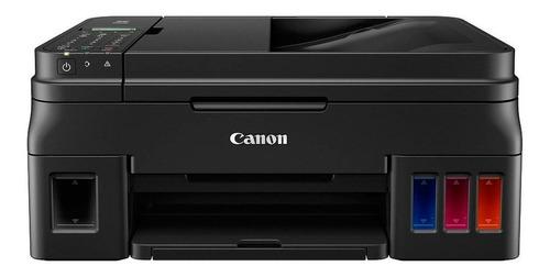 Impresora A Color Multifunción Canon Pixma G4110 Con Wifi Negra 100v/240v