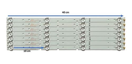 Tiras Led Para Adaptacion 4 Led 40cm X Tira 42 Pulgadas