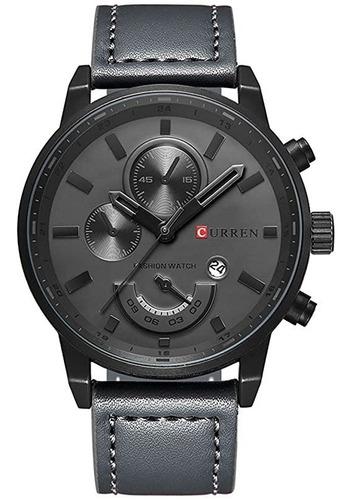 Relógio Luxuoso Curren Pulseira Couro Modelo Original Pro