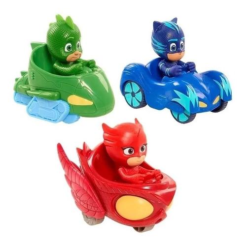 Pj Masks Vehículo Con Figura X3 Héroes En Pijamas - E.full